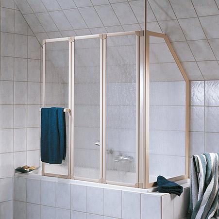 Badewannenaufsatz, 3-teilig mit Seitenwand im Sondermass