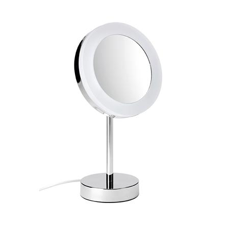 LED Kosmetikspiegel 3 fache Vergrößerung Standmodell mit Kabel Stecker und Schalter 9505110010