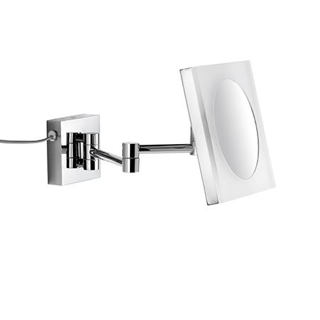 LED Kosmetikspiegel 5 fache Vergrößerung Wandmodell mit Kabel Stecker und Schalter 9505105010