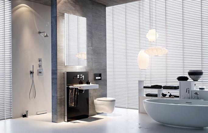 GEBERIT Bathroom Monolith washbasin with Sigma50