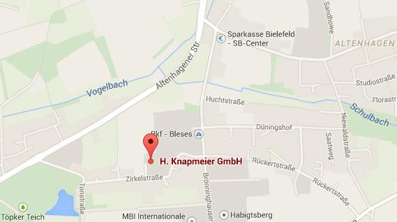 Karte Masterbetrieb Sanitär Heizung Haus Bielefeld
