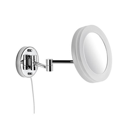LED Kosmetikspiegel 5 fache Vergrößerung Wandmodell mit Kabel Stecker und Schalter 9505100010