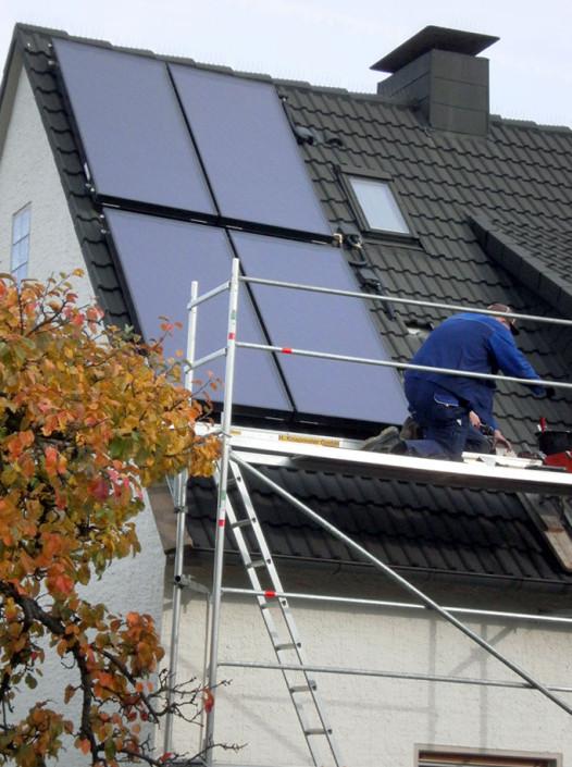 Solartechnik Montage 4